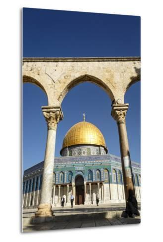 Dome of the Rock Mosque, Temple Mount, UNESCO World Heritage Site, Jerusalem, Israel, Middle East-Yadid Levy-Metal Print