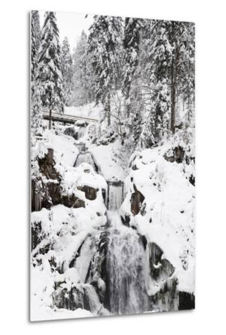Triberg Waterfalls in Winter, Triberg, Black Forest, Baden-Wurttemberg, Germany, Europe-Markus Lange-Metal Print
