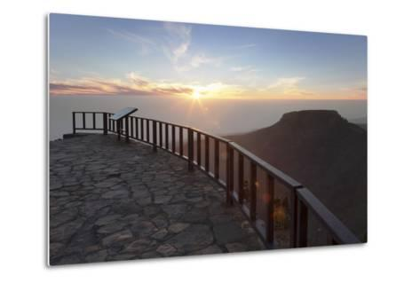 View from Mirador De Igualero over Barranco Del Erque to Table Mountain Fortaleza-Markus Lange-Metal Print