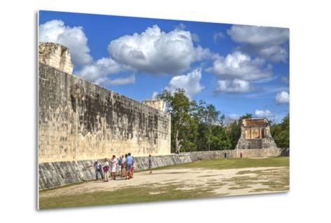 Tourists with Guide, the Grand Ball Courrt (Gran Juego De Pelota), Chichen Itza-Richard Maschmeyer-Metal Print