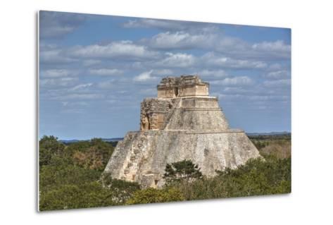 Pyramid of the Magician, Uxmal, Mayan Archaeological Site, Yucatan, Mexico, North America-Richard Maschmeyer-Metal Print
