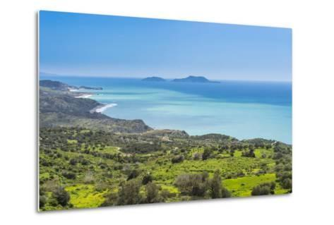 View over the South Coast of Crete with its Turquoise Waters, Crete, Greek Islands, Greece, Europe-Michael Runkel-Metal Print