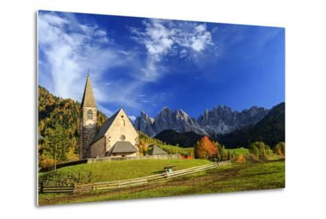 Church of St. Magdalena Immersed in the Colors of Autumn-Roberto Moiola-Metal Print