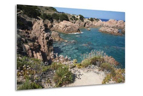 The Sea at Costa Paradiso, Sardinia, Italy, Mediterranean-Ethel Davies-Metal Print