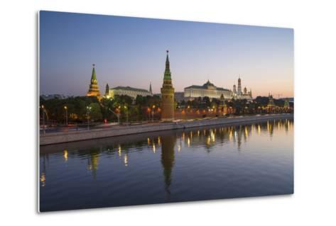 Kremlin Churches and Towers from Moscow River Bridge, Moscow, Russia-Gavin Hellier-Metal Print