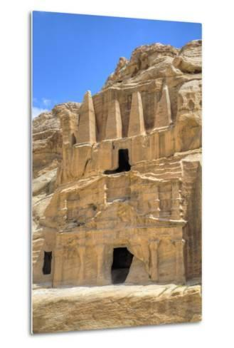Obelisk Tomb (Upper Structure), Bab As-Sig Triclinium (Lower Structure), Petra, Jordan, Middle East-Richard Maschmeyer-Metal Print