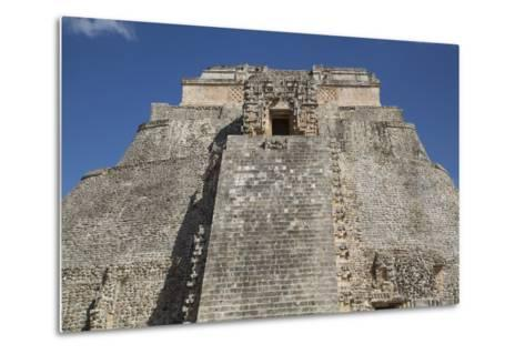 Pyramid of the Magician, Uxmal, Mayan Archaeological Site, Yucatan, Mexico, North America-Richard Maschmeyer-Metal Print