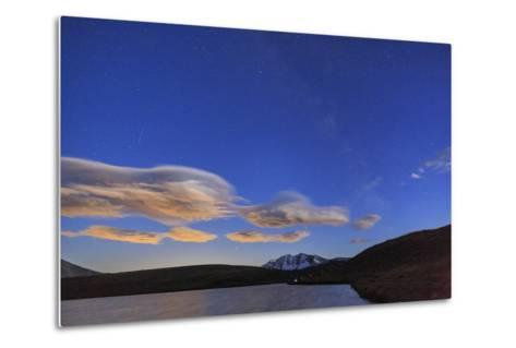 Pink Clouds after Sunset on Rossett Lake at an Altitude of 2709 Meters-Roberto Moiola-Metal Print