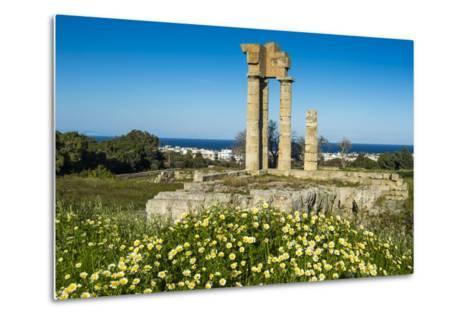 Temple of Apollo at the Acropolis, Rhodes, Dodecanese, Greek Islands, Greece, Europe-Michael Runkel-Metal Print