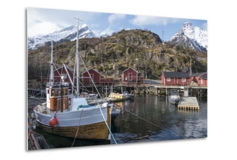 Nusfjord, Lofoten Islands, Nordland, Arctic, Norway, Scandinavia-Rolf Richardson-Metal Print