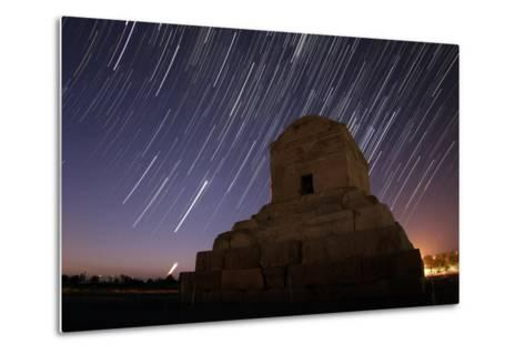 Time-Exposure in Morning Twilight as Venus and the Crescent Moon Rise Above Cyrus the Great's Tomb-Babak Tafreshi-Metal Print