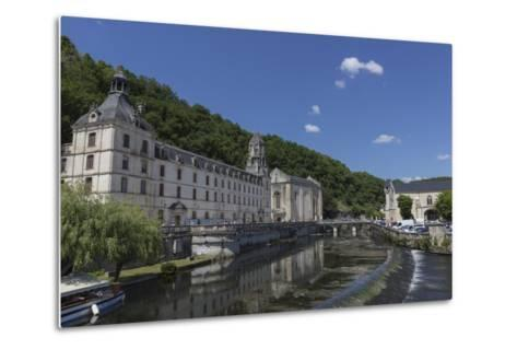 Abbey by the River Dronne, Brantome, Dordogne, Aquitaine, France, Europe-Jean Brooks-Metal Print
