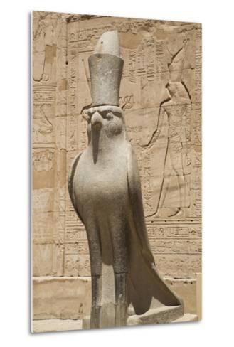 Granite Falcons, Pylon, Temple of Horus, Edfu, Egypt, North Africa, Africa-Richard Maschmeyer-Metal Print