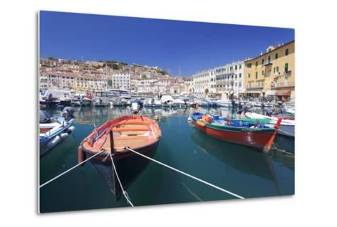 Harbour with Fishing Boats, Portoferraio, Island of Elba-Markus Lange-Metal Print
