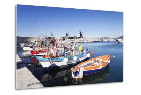 Port of Marciana Marina with Fishing Boats-Markus Lange-Metal Print
