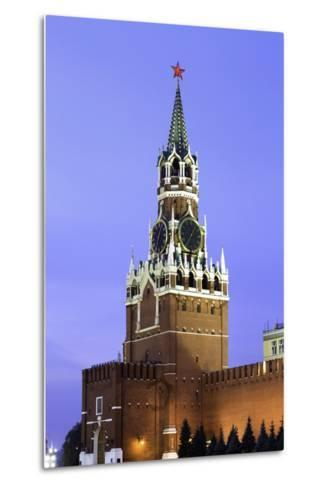 The Kremlin Clocktower in Red Square, Moscow, Russia-Gavin Hellier-Metal Print