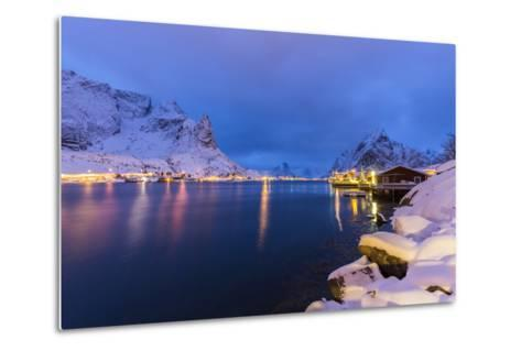 Blue Hour in the Small Bay of Reine-Roberto Moiola-Metal Print