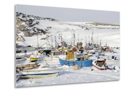 Ilulissat Harbour, Greenland, Denmark, Polar Regions-Sergio Pitamitz-Metal Print