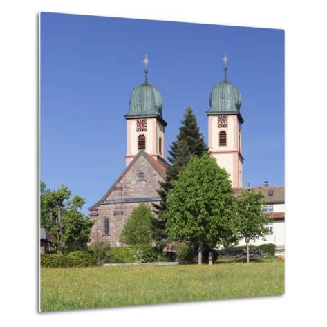 Abbey Chuch, Spring, St. Maergen, Glottertal Valley, Black Forest, Baden Wurttemberg, Germany-Markus Lange-Metal Print