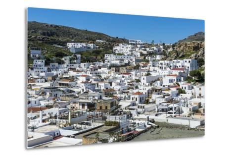 Lindos, Rhodes, Dodecanese Islands, Greek Islands, Greece, Europe-Michael Runkel-Metal Print