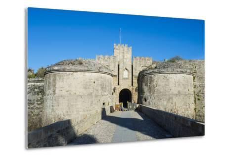 Gate D'Amboise, the Medieval Old Town, City of Rhodes-Michael Runkel-Metal Print