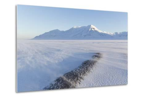 Sunrise View Towards Hiorthfjellet Mountain-Stephen Studd-Metal Print