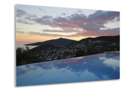Infinity Pool at Sunset, Mediteran Hotel, Kalkan-Stuart Black-Metal Print
