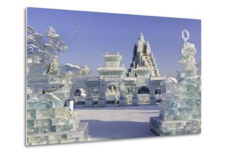 Spectacular Ice Sculptures, Harbin Ice and Snow Festival in Harbin, Heilongjiang Province, China-Gavin Hellier-Metal Print
