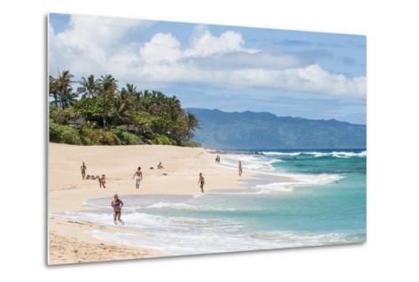 Sunset Beach, North Shore, Oahu, Hawaii, United States of America, Pacific-Michael DeFreitas-Metal Print