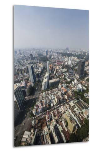Aerial View of the City of Ho Chi Minh City (Saigon), from the Bitexco Financial Tower, Vietnam-Michael Nolan-Metal Print