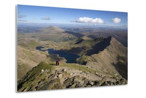 View from Summit of Snowdon to Llyn Llydaw and Y Lliwedd Ridge-Stuart Black-Metal Print