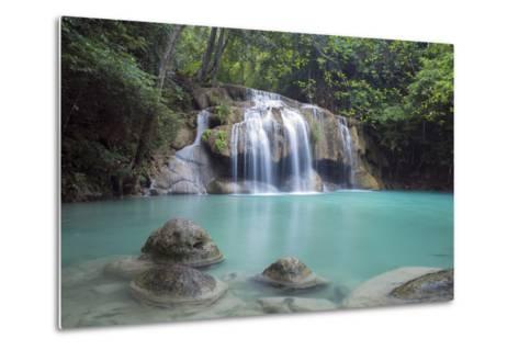 Erawan Falls, Kanchanaburi, Thailand, Southeast Asia, Asia-Alex Robinson-Metal Print