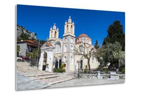 Church in Sianna Village, Rhodes, Dodecanese Islands, Greek Islands, Greece-Michael Runkel-Metal Print