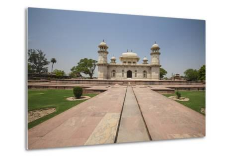 A Footpath Leads to the Sandstone Mausoleum of the Moghul Emperor Humayun-Roberto Moiola-Metal Print