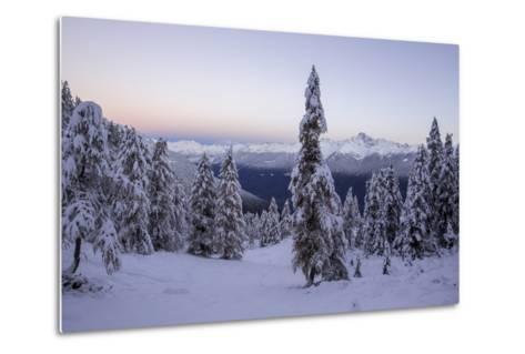The Autumn Snowy Landscape, Casera Lake, Livrio Valley, Orobie Alps, Valtellina, Lombardy, Italy-Roberto Moiola-Metal Print