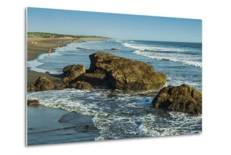 Poneloya Beach, a Popular Little Pacific Coast Surf Resort, West of the Northern City of Leon-Rob Francis-Metal Print