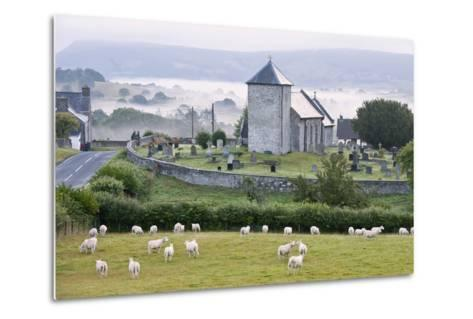 Early Morning Mist in the Valleys Surrounds St. David's Church-Graham Lawrence-Metal Print