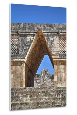 Corbelled Arch, Nuns Quadrangle, Uxmal, Mayan Archaeological Site, Yucatan, Mexico, North America-Richard Maschmeyer-Metal Print