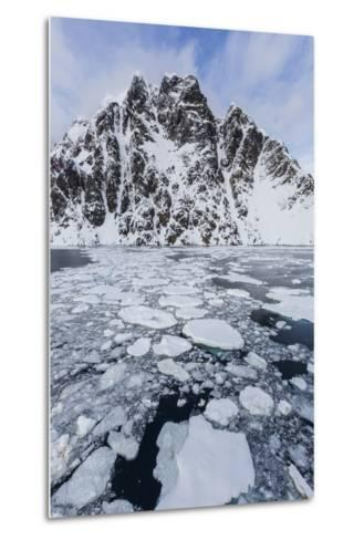 Ice Floes Choke the Waters of the Lemaire Channel, Antarctica, Polar Regions-Michael Nolan-Metal Print