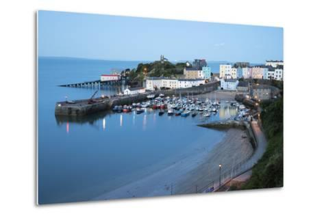 View over Harbour and Castle, Tenby, Carmarthen Bay, Pembrokeshire, Wales, United Kingdom, Europe-Stuart Black-Metal Print