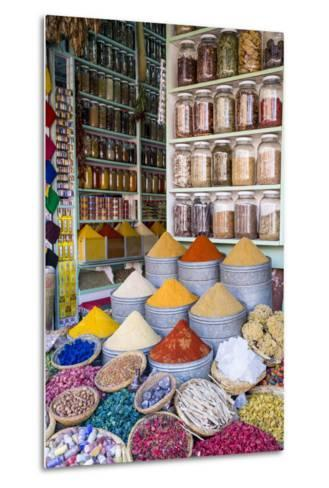 Herbs and Spices for Sale in Souk, Medina, Marrakesh, Morocco, North Africa, Africa-Stephen Studd-Metal Print