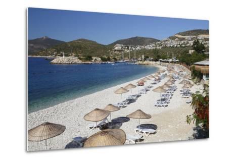 View over Beach, Kalkan, Lycia-Stuart Black-Metal Print