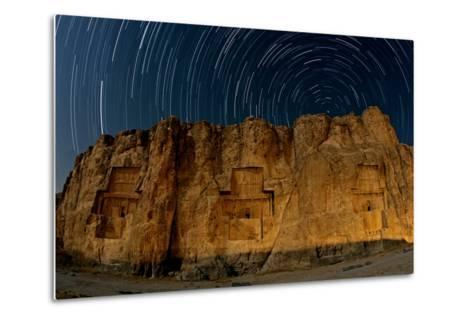The Night Sky Above the 2500-Year Old Tombs of Ancient Persian Kings of the Achaemenid Empire-Babak Tafreshi-Metal Print