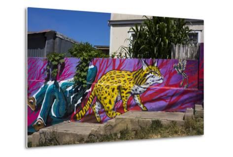 Wonderful Graffiti, Valparaiso, Chile-Peter Groenendijk-Metal Print
