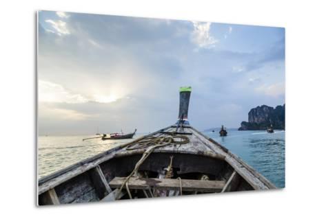Longtail Boat, Railay Beach, Krabi, Thailand, Southeast Asia, Asia-Yadid Levy-Metal Print