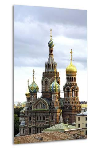 Domes of Church of the Saviour on Spilled Blood, St. Petersburg, Russia-Gavin Hellier-Metal Print