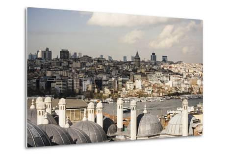 View of City Skyline from Suleymaniye Mosque, Istanbul, Turkey-Ben Pipe-Metal Print