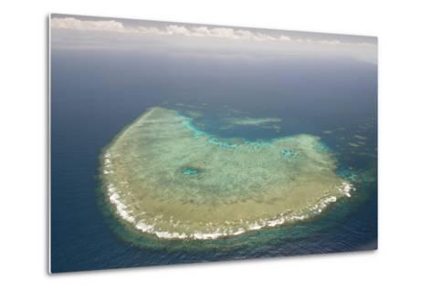 Aerial Photography of Coral Reef Formations of the Great Barrier Reef-Louise Murray-Metal Print