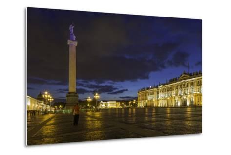 Palace Square, the Hermitage, Winter Palace, St. Petersburg, Russia-Gavin Hellier-Metal Print