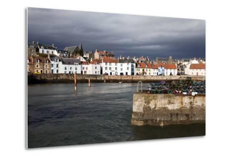 Stormy Skies over St. Monans Harbour, Fife, Scotland, United Kingdom, Europe-Mark Sunderland-Metal Print